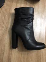 Кожаные демисезонные ботинки (сапоги) Sassofono
