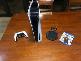 PS5 Disc Drive With Game.