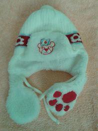 Зимняя тёплая шапка на девочку