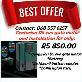 D5 centorion gate motor and installation