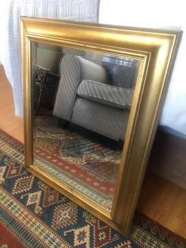 Golden Framed Mirror - Medium