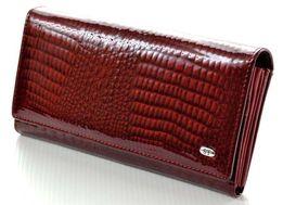 Женский кожаный кошелек лаковый ST натуральная кожа из турция.