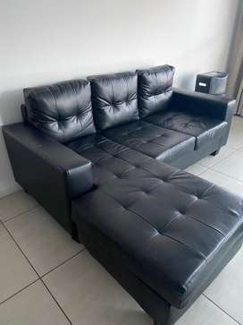 Corner leather couch