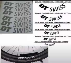 DT bicycle rim stickers decals graphics