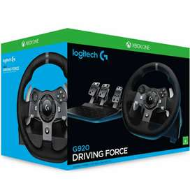 Logitech driving force s/wheel, pedals and shifter for XBOX One