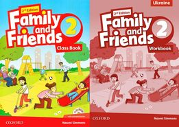 Family and Friends 2 Ukraine: ClassBook + Workbook + CD 2-nd edition