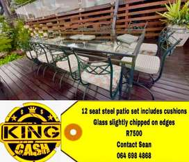 12 seater patio set