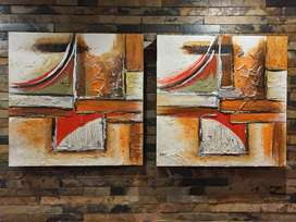 3X AbstractAcrylic Paintings