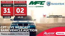 Live Webcast Bank Vehicle Auction