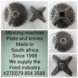 Mincing machine plates and knives made in south Africa