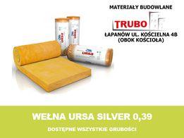Wełna URSA λ=039 SILVER 15cm dostępne różne grubości