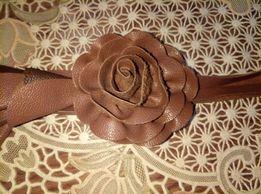 Брелок кожаный (украшение) на сумку