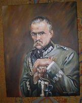 """Kopia obrazu Wojciecha Kossaka """" Józef Piłsudski"""""""