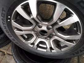 """18"""" Ford Ranger mag wheels and Continental tyres."""
