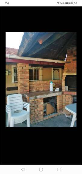 A room in backyard is available for rent R4500