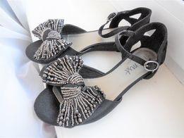 Нарядные босоножки Next туфли чёрные 32-33р-21 см