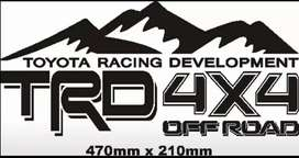 Hilux TRD rear side decals stickers vinyl cut graphics