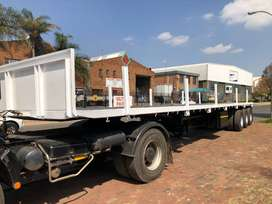 3 Axle Flat Deck Trailer For Sale