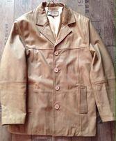 Kurtka płaszcz marynarka jasna beż XL skóra Bershka zara