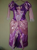 Карнавальное платье Рапунцель для девочки 7-8 лет р.М Disney