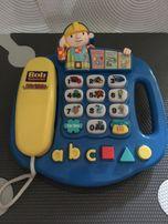 Interaktywny telefon stacjonarny Bob Budowniczy VTech jez niemiecki