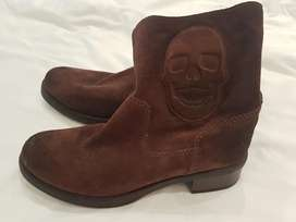 Short leather boots - Brown