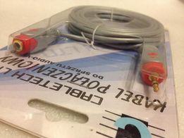 NOWY kabel połączeniowy audio-video jack 3,5 wtyk - gniazdo 3m łezka