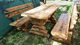 Стол деревянный и скамейки сруб качество!