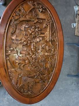 Antique asian hand carved table and chairs