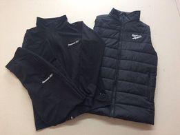 Комплект мужской спортивный костюм теплый+мужская спортивная жилетка