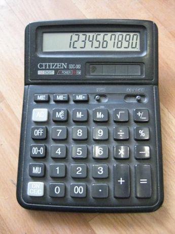 370р. Калькулятор CITIZEN SDC-382 12 разрядный, солнечная батарея Стаханов - изображение 1