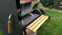 Duży grill ogrodowy grill wędzarnia BBQ