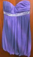 Платье из США - фиолетовое; вечернее выпускное коктейльное