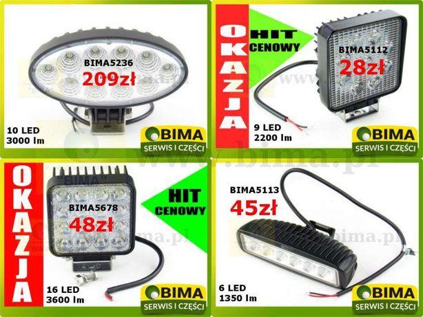 Halogen lampa robocza reflektor 6,9,10,16 LED WESEM 12-24V OKAZJA HIT Turobin - image 1