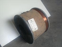Drut miedziany goły 0,4 mm.
