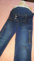 Продам джинсы (штаны) для беременных в отличном состоянии синего цвета
