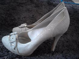 Brokatowe srebrne graceland
