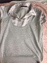 Bluzka risoe XL szara z kołnierzykiem