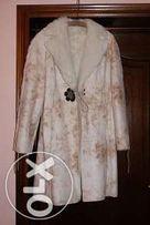 płaszcz, kożuszek kremowy, ciepły, stan idealny