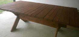 Stół dębowy, ogrodowy, okazja,meble ogrodowe
