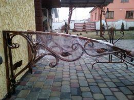 Садовая мебель:боковины для козырька,дашка,стол,лавка,качеля,скамейка.