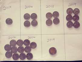 R2's and R5 coin