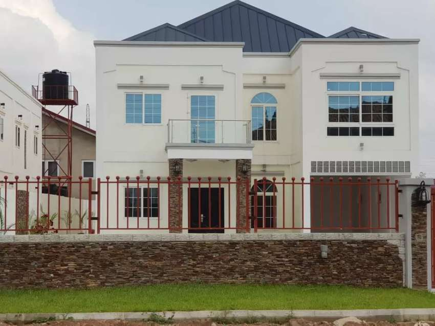 NEWLY BUILT 6 BEDROOMS WITH 2 BEDROOM BOYS QUARTERS AT AGBOBGA 0