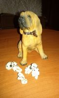 Figurki psów-różne rodzaje.