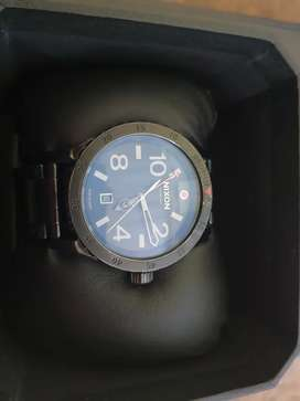 Nixon Diplomat SS all black gold watch for sale.