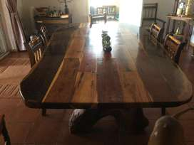 Salie du Preez of Malalane - indigenous woods Dining Table. Very large