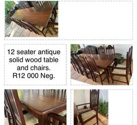 12 Seater Antique Wooden Table