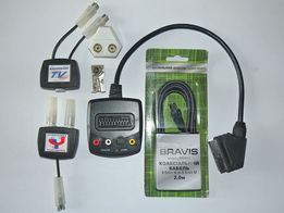 Набор SCART скарт диплексер разветвитель переходник разъемы кабель