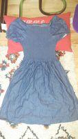 Dżinsowa sukienka r. 146 cm