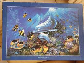 Tomax 1000pc Glow in the Dark Dolphin Puzzle
